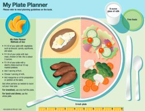 Diabetic Diet Chart My Plate Planner