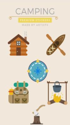 Camping Stickers app