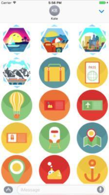 Travel Stickers Pack app