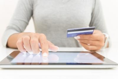 online shopper with credit card